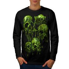 Slime Dark Skeleton Skull Men Long Sleeve T-shirt NEW | Wellcoda