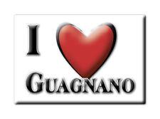 CALAMITA PUGLIA ITALIA FRIDGE MAGNET MAGNETE SOUVENIR I LOVE GUAGNANO (LE)
