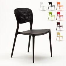 Lot de 20 chaises en polypropylène colorées empilables bar restaurant glacier GA