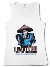 I Want You Raiden señora Tank Top Earthrealm Liu Kang mortal Mk nerd Kombat Fun