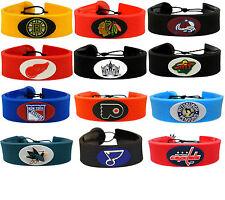 hockey puck rubber bracelet NHL PICK YOUR TEAM gamewear