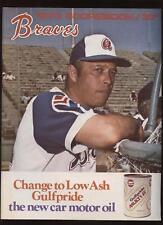 1973 MLB Scorecard LA Dodgers @ Atlanta Braves NRMT