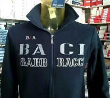 Felpa uomo Baci & Abbracci in cotone con logo ricamato e tasche art BAM1523