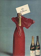 """PUBLICITE 1966  KRITTER  métode champenoise """" avec ses compliments"""""""