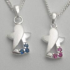 Mädchen Junge Schutzengel Engel Kette Echt Silber Schmuck Taufkette Taufschmuck