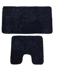 STARLITE lusso in microfibra lurex Antiscivolo Grande Tappeto Da Bagno Piedistallo Slate argento