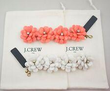 J.Crew Flower Burst Statement Bracelet,  White/Red, NWT & SIGNED
