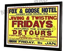 The Who Detours Fox and Goose Concert Poster Hanger Lane Ealing London 1963