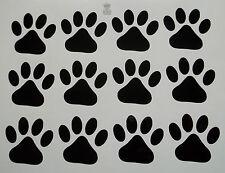 12 x Paw Print Vinyl Decal Stickers Dog Animal ski skateboard snowboard Car Van