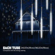 50CM Meteor Shower Falling Star Rain Drop Icicle Snow Fall LED Strip Light Tube