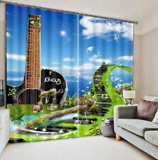 3D Piano Keys 6 Blockout Photo Curtain Printing Curtains Drapes Fabric Window CA