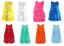 Girls Layered Dress Age 3 4 5 6 7 8 9 10 11 12 13 14 Sleeveless Party Lolita