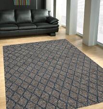URBEN Nz-Wool Cotton Blue Grey Modern Morrocan Thick Floor Rug 25mm 3 sizes
