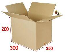 lot de 10 boîtes emballage carton 300 X 250 X 200 mm