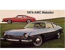 1974  AMC Matador  Auto Refrigerator Magnet
