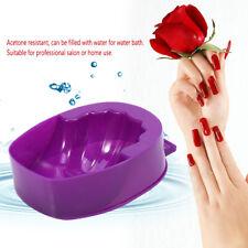 Nail Soak Bowl Nail Art Hand Wash Polish Treatment Remover Manicure Tool SG