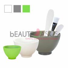Flexible Silicone Facial Mask Mixing Bowl Combo Set - Bowls & Plastic Spatulas