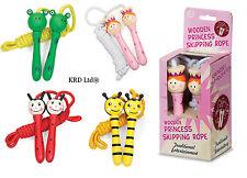 Kids Wooden Skipping Rope Girls Boys Birthday Gift Stocking Filler Toy Box UK