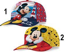 Disney Mickey Mouse Basecap Kappe Caps Cap  Satin Kinder Größe 53cm NEU