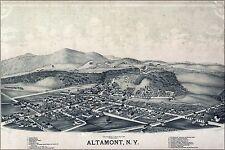 Poster, Many Sizes; Birdseye View Map Of Altamont New York 1889