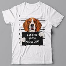 Cool T-shirt - Beagle mugshot - gift for dog lovers