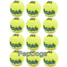 """12-Pack KONG Air Dog Medium 2.5"""" Squeaker Tennis Balls Interactive Fetch Toy"""