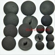 10 Black Coat Jacket Buttons Matt Black Nylon Sew on Shank Choice of 5 Sizes