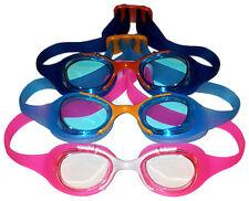 Kinder Junior Jugendliche Schwimmbrille Swimming Goggles pink hellblau blau NEU!