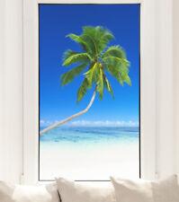 Palme Fensterfolie Strand Meer Sichtschutz Fensterbild Qualitätsfolie