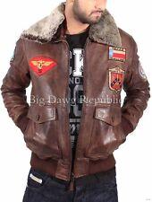Aviatrix garçons pour homme Marron Nevada Bugatti pilote Blouson de cuir style aviateur