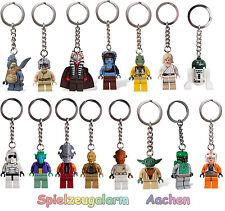 LEGO STAR WARS Schlüsselanhänger Key Chain Luke Skywalker Aayla Secura Wicket