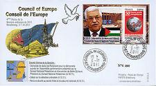 """CE62-IV FDC Conseil Europe """"M. Mahmoud ABBAS, Président de Palestine"""" 10-2011"""