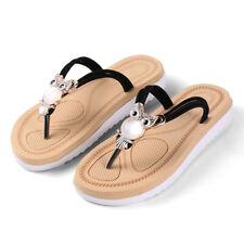 Women Owl Flip Flops Summber Beach Thong Sandals Flat Casual Slippers Size 7 8