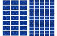 Europe Flag Stickers rectangular 21 or 65 per sheet