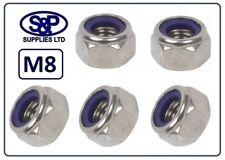 M8 (8MM - 8mm) STAINLESS STEEL NYLON INSERT NUT NYLOC NUT LOCKING NUT ST/STEEL