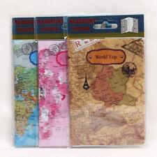 1PC World Trip Map Travel Passport Covers PVC Passport Holder ID Card Bag Wallet