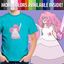 Rose Quartz Steven Universe Crystal Gems SU Fusion Unisex Kids Tee Youth T-Shirt
