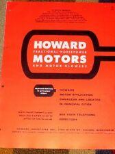 Vtg Howard Industries Catalog-Motors/Blower-Application