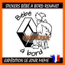 stickers Bébé à Bord Renault fille