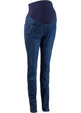 Skinny Umstandshose Jeans Bauchband Hose regulierbar Schwarz 605 Blau 019 neu