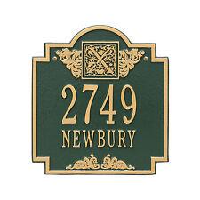 Monogram Two Line Personalized Address Plaque