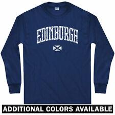 Edinburgh Long Sleeve T-shirt - Scotland UK Dun Eideann Scots - LS - Men / Youth