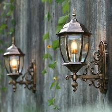 Vintage Waterproof Outdoor Lantern Coach Light Black/Brass Wall Light Sconce Art