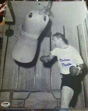 CARMEN BASILIO Boxing HOF'er Auto Autograph 11x14 Picture Photo PSA/DNA RARE