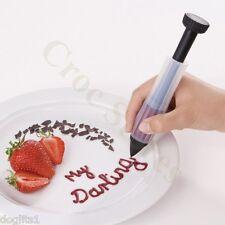 Silicone Plastic Icing Pen Cake Personalisation & Decorating Syringe Pen