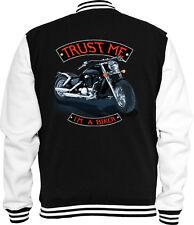 Biker Sweat College Jacke Trust me USA Bike Bike Racing USA