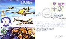 RAFA17 WW2 WWII Battle of Britain Me109 RAF cover signed Hajo Herrmann KC