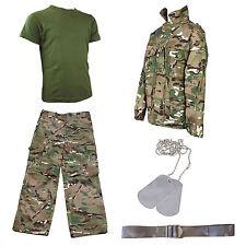 Kids Pack 5 HMTC MTP MultiCam Match - Camo Pants, Shirt + Tee, Dog Tags, BELT