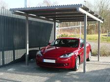 Carport AluWell aus Aluminium mit Alu - Wellplatten 76/18
