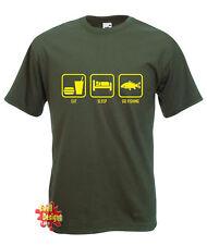 EAT, SLEEP, GO FISHING fish carp T Shirt All Sizes